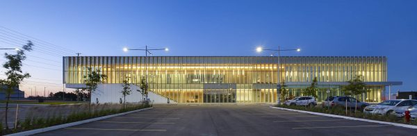 Lit up building - Williams Parkway Operational Centre